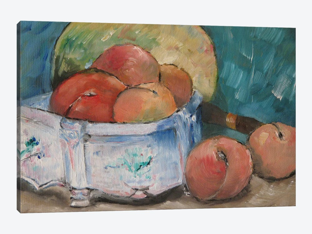 Fruit Bowl by Paul Cezanne 1-piece Canvas Wall Art