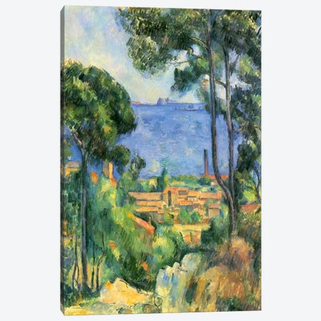 Forest of Trees Canvas Print #1085} by Paul Cezanne Canvas Print