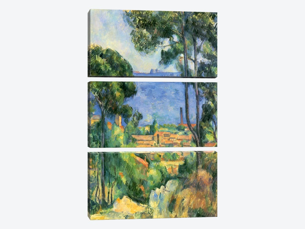 Forest of Trees by Paul Cezanne 3-piece Art Print