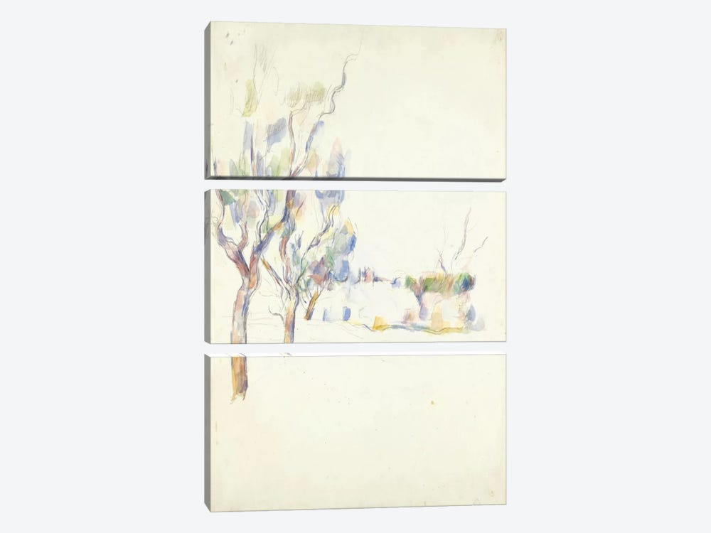 Amandiers En Provence (Allee Du Jas De Bouffan) 1900 by Paul Cezanne 3-piece Art Print
