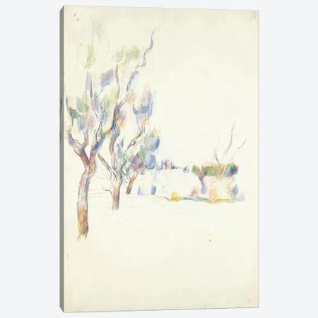 Amandiers En Provence (Allee Du Jas De Bouffan) 1900 Canvas Print #1089} by Paul Cezanne Canvas Art