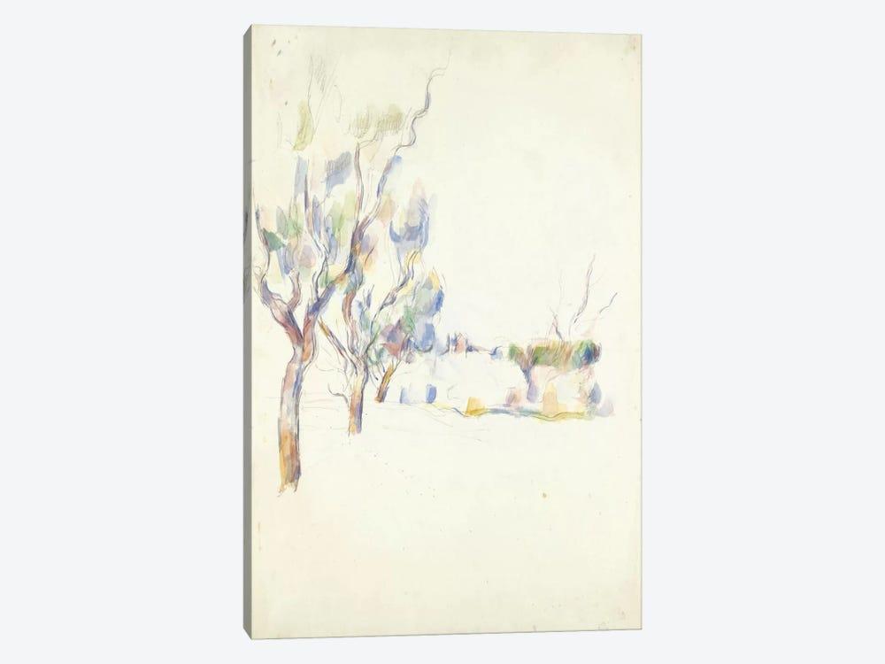 Amandiers En Provence (Allee Du Jas De Bouffan) 1900 by Paul Cezanne 1-piece Canvas Art Print