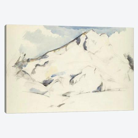 La Montagne Sainte-Victoire (Fruits Et Feuillage) 1900-1902 Canvas Print #1090} by Paul Cezanne Art Print