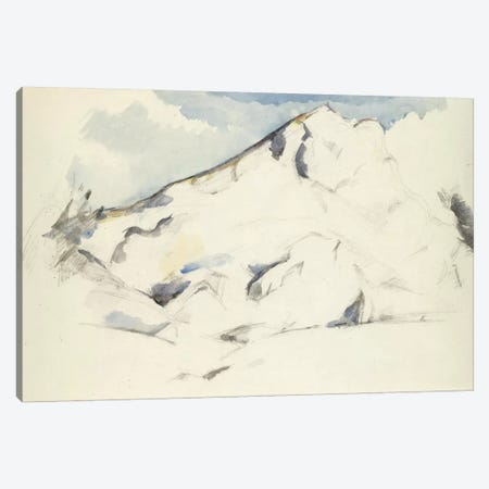 La Montagne Sainte-Victoire (Fruits Et Feuillage) 1900-1902 Canvas Print #1090} by Paul Cezanne Art Print