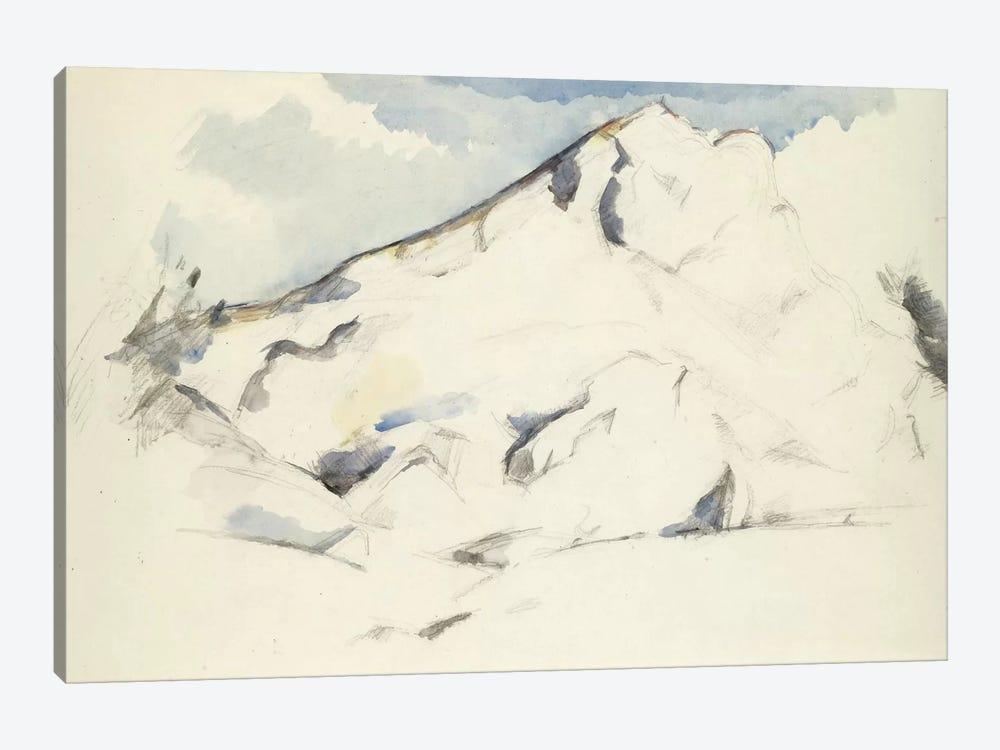 La Montagne Sainte-Victoire (Fruits Et Feuillage) 1900-1902 by Paul Cezanne 1-piece Art Print