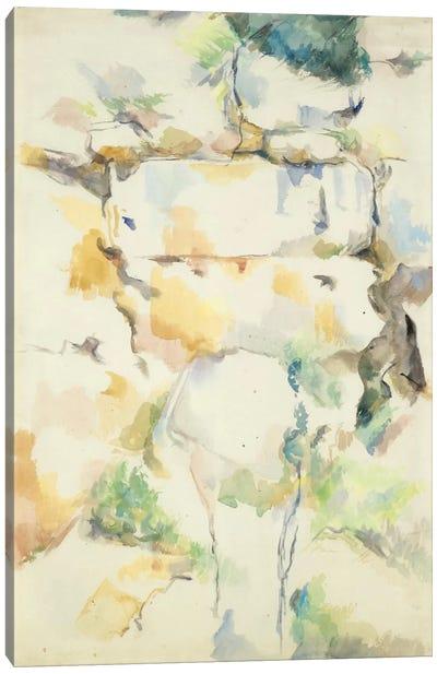 Rochers Pres Des Grottes Au-Dessus De Chateau Noir (Rochers A Bibemus) 1895-1900 Canvas Art Print