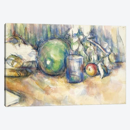 Nature Morte Au Melon Vert 1902-1906 Canvas Print #1092} by Paul Cezanne Canvas Print