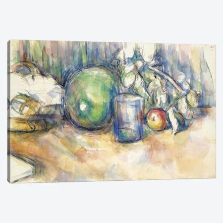 Nature Morte Au Melon Vert 1902-1906 Canvas Print #1092} by Paul Cezanne Canvas Print