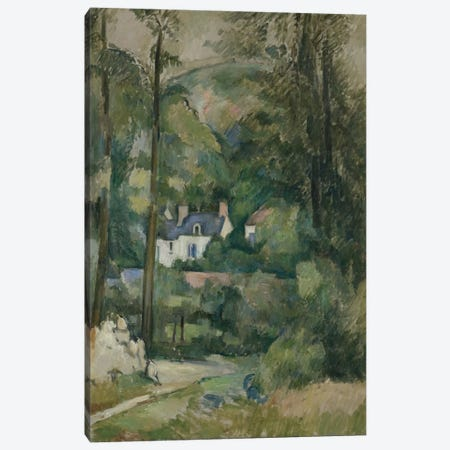 Maisons Dans La Verdure 1881 Canvas Print #1093} by Paul Cezanne Canvas Print