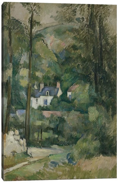 Maisons Dans La Verdure 1881 by Paul Cezanne Canvas Print