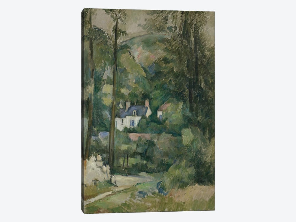 Maisons Dans La Verdure 1881 by Paul Cezanne 1-piece Canvas Wall Art