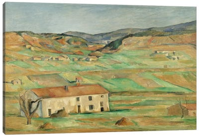 Environs De Gardanne 1886-1890 by Paul Cezanne Canvas Wall Art