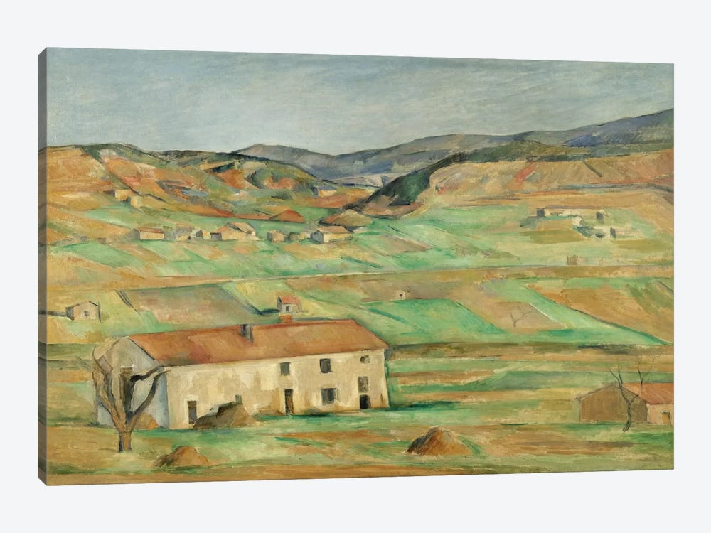 Environs De Gardanne 1886-1890 by Paul Cezanne 1-piece Canvas Art Print