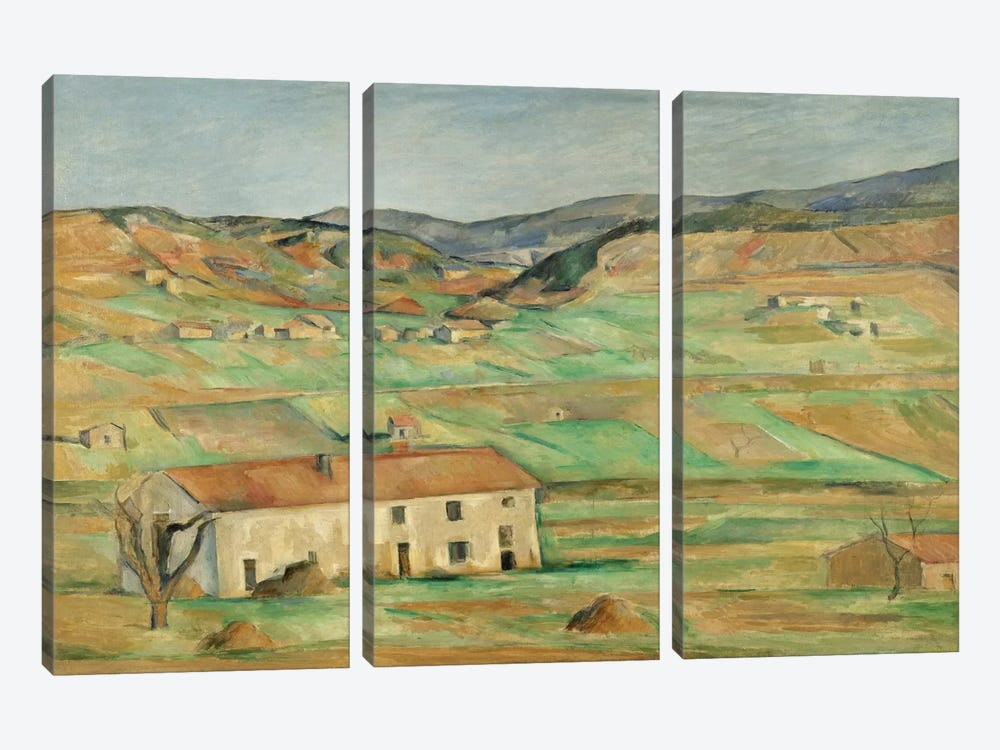 Environs De Gardanne 1886-1890 by Paul Cezanne 3-piece Canvas Art Print