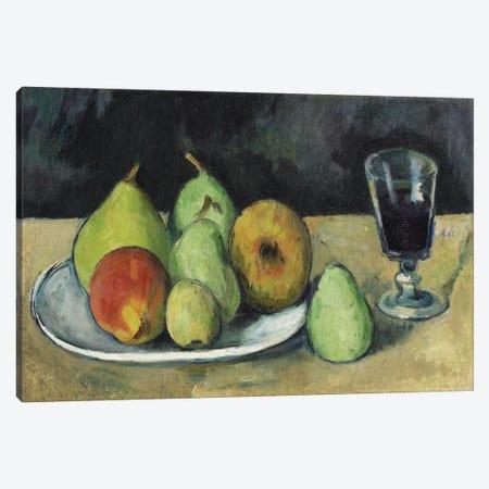 Verre Et Poires, c. 1879-1880 Canvas Print #1095} by Paul Cezanne Canvas Wall Art