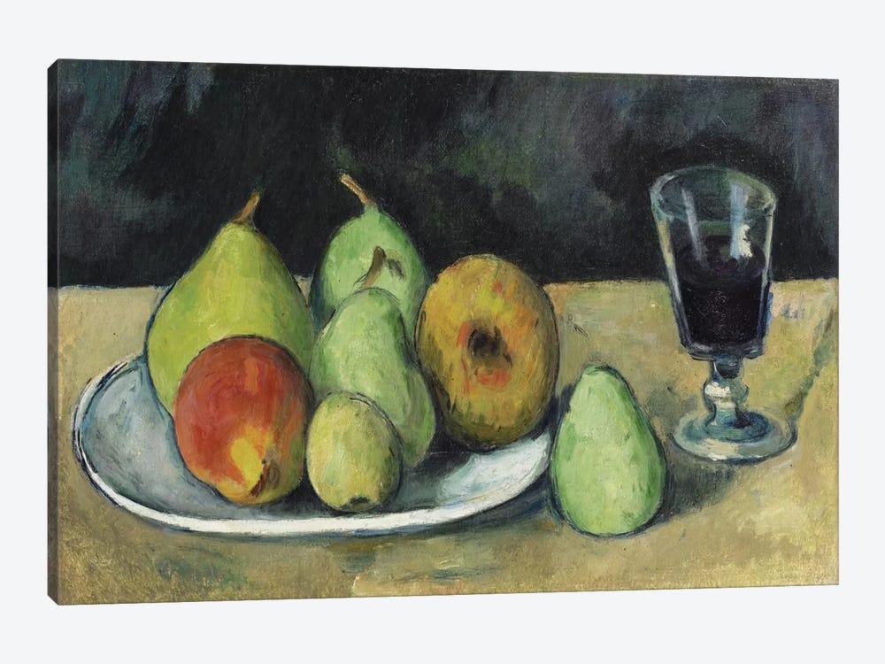 Verre Et Poires, c. 1879-1880 by Paul Cezanne 1-piece Canvas Artwork