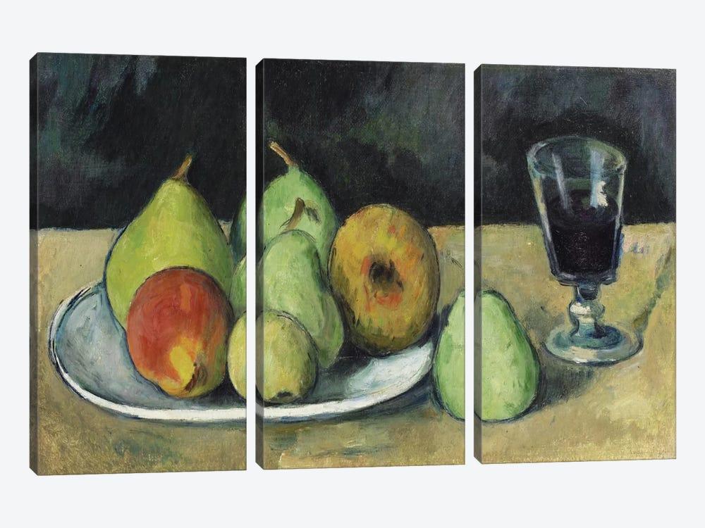 Verre Et Poires, c. 1879-1880 by Paul Cezanne 3-piece Canvas Art