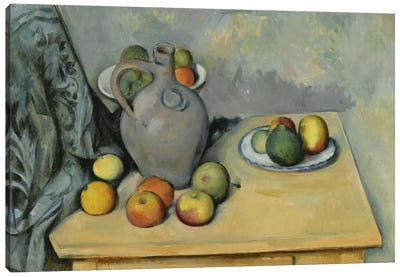 Pichet et Fruits sur Une Table (Pitcher and Fruits On A Table), c. 1893-1894 Canvas Art Print