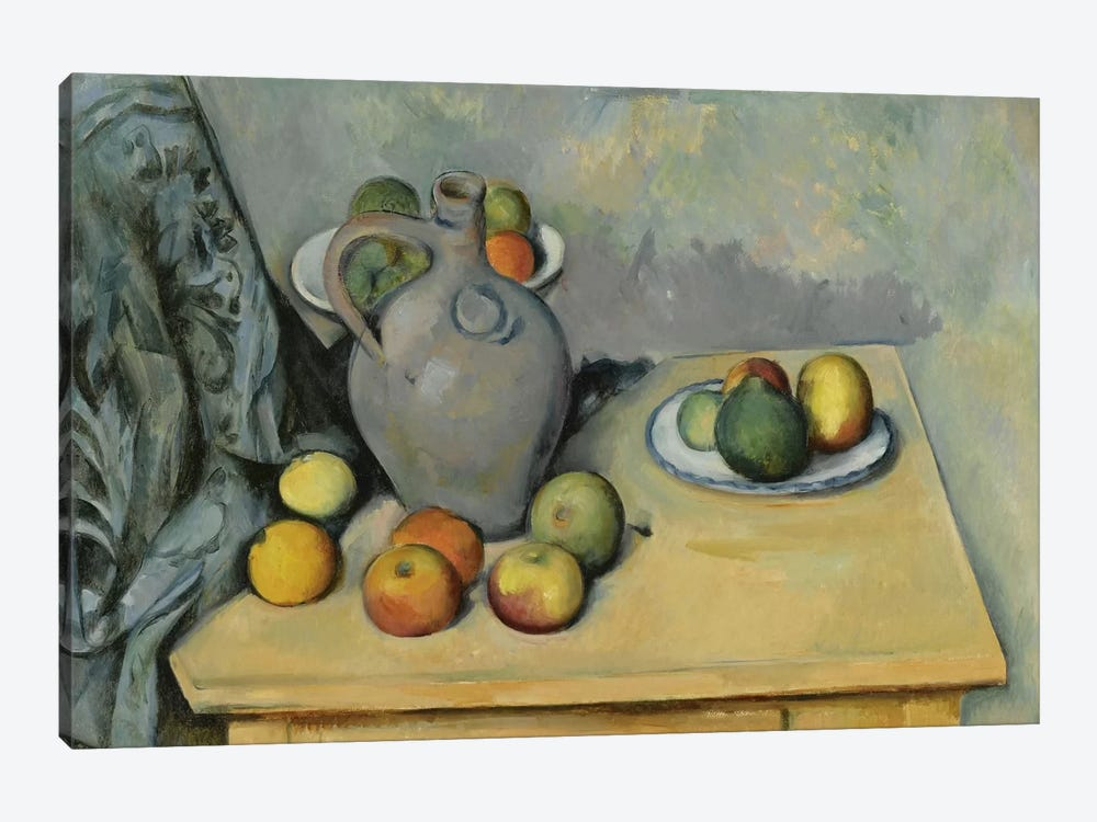 Pichet et Fruits sur Une Table (Pitcher and Fruits On A Table), c. 1893-1894 by Paul Cezanne 1-piece Canvas Print