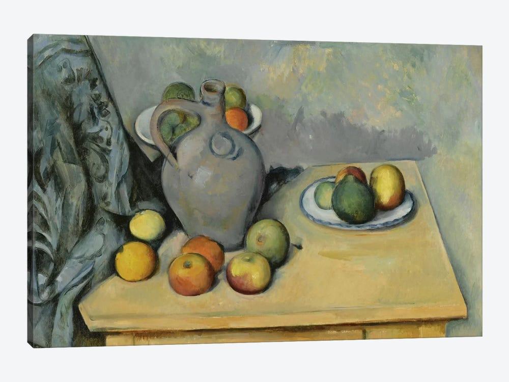 Pichet et Fruits sur Une Table (Pitcher and Fruits On A Table), c. 1893-1894 by Paul Cezanne 1-piece Canvas Print