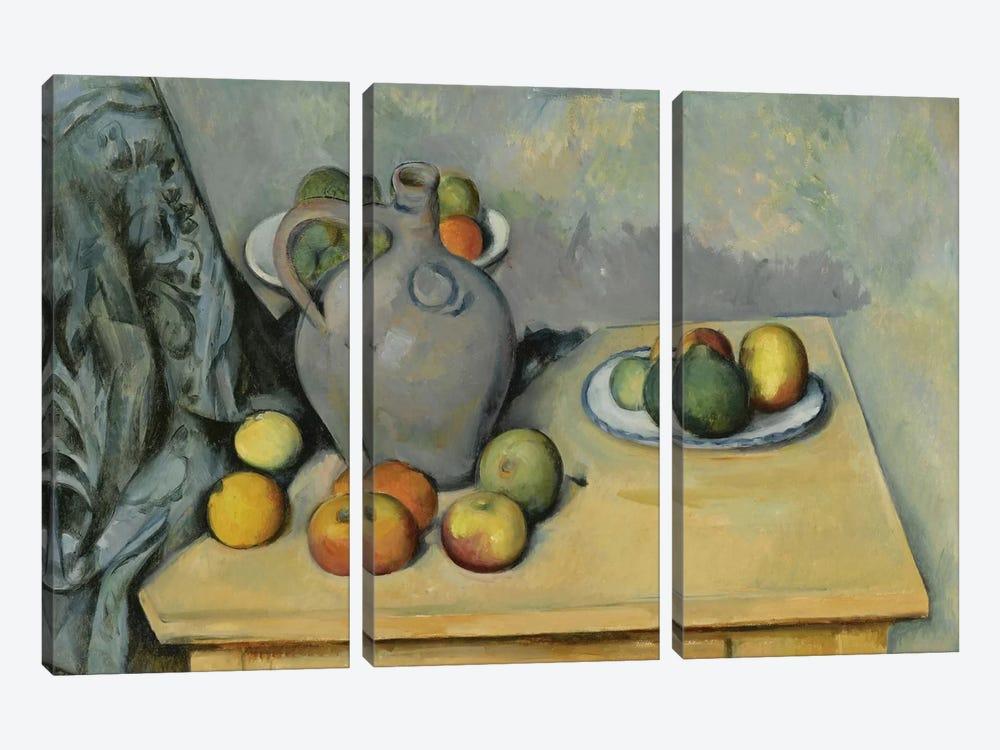 Pichet et Fruits sur Une Table (Pitcher and Fruits On A Table), c. 1893-1894 by Paul Cezanne 3-piece Art Print