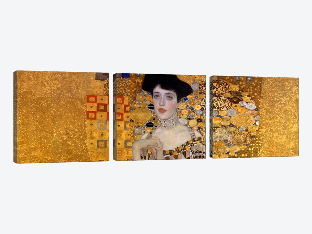 Portrait of Adele Bloch-Bauer I by Gustav Klimt 3-piece Canvas Print