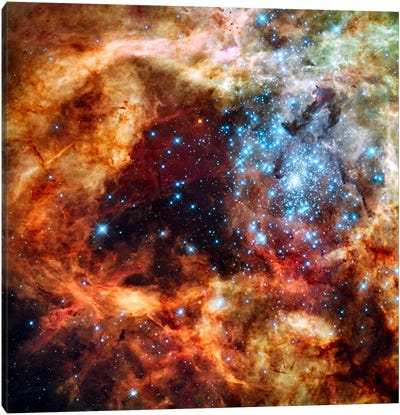 R136 Star Cluster (Hubble Space Telescope) Canvas Art Print