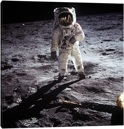 Buzz Aldrin Moonwalker Canvas Print #11026