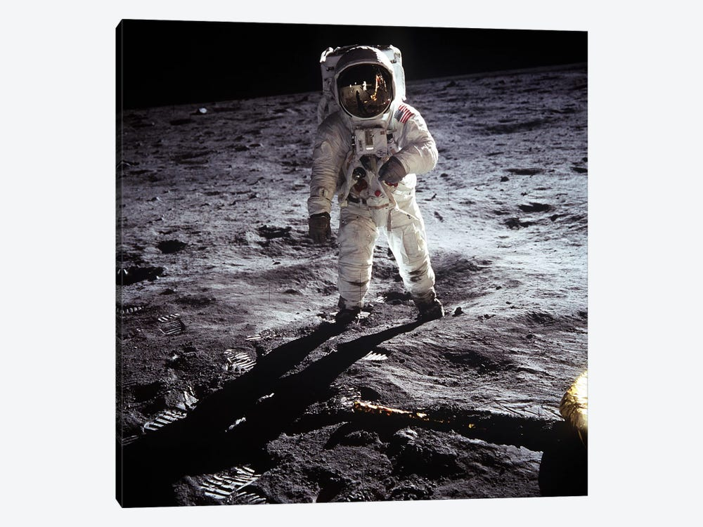 Buzz Aldrin Moonwalker 1-piece Canvas Wall Art