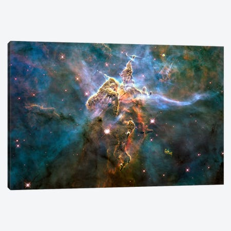 Mystic Mountain in Carina Nebula (Hubble Space Telescope) Canvas Print #11030} by NASA Canvas Wall Art