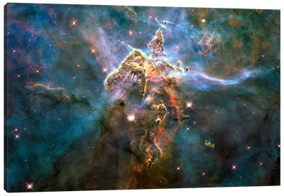 Mystic Mountain in Carina Nebula (Hubble Space Telescope) Canvas Art Print