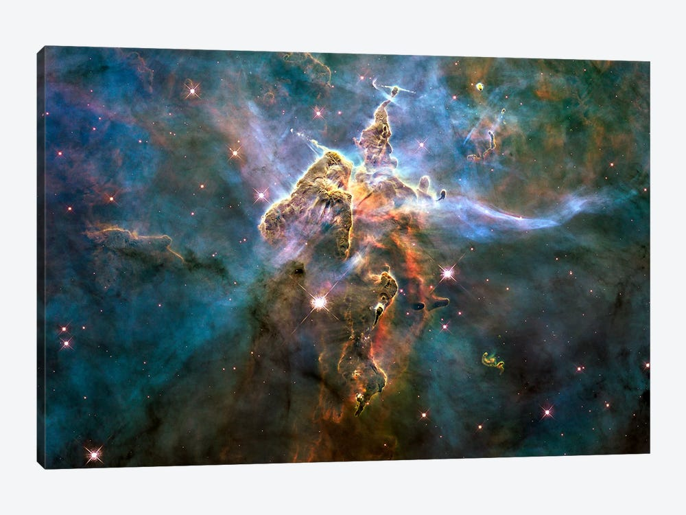 Mystic Mountain in Carina Nebula (Hubble Space Telescope) by NASA 1-piece Art Print
