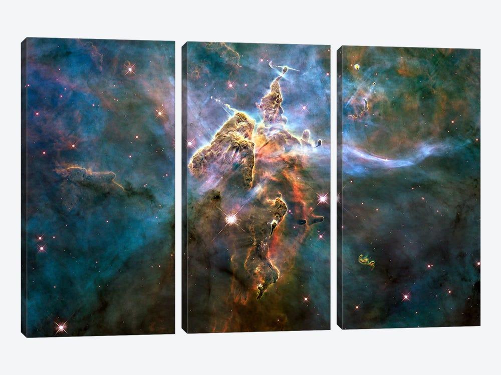 Mystic Mountain in Carina Nebula (Hubble Space Telescope) by NASA 3-piece Art Print
