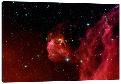 Stars Hatching from Orion's Head (Spitzer Space Station) Canvas Art Print