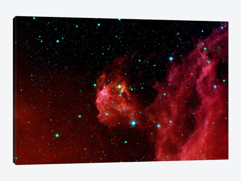 Stars Hatching from Orion's Head (Spitzer Space Station) by NASA 1-piece Art Print