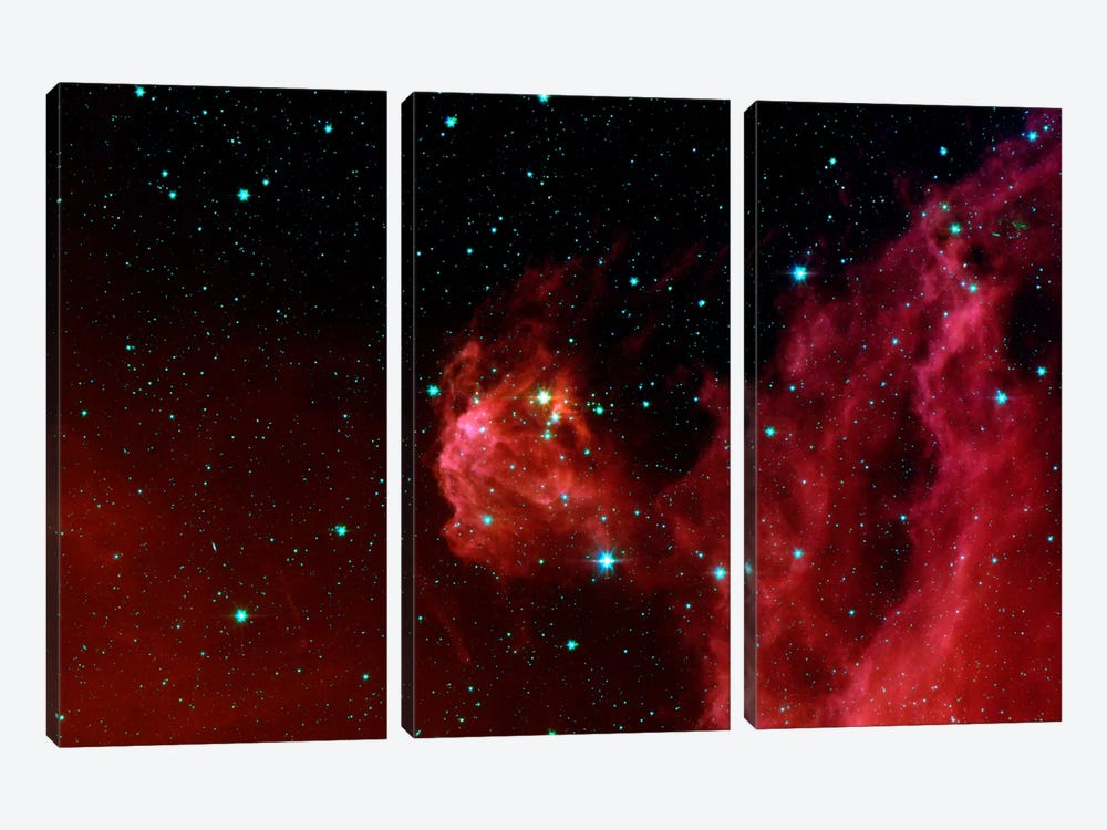 Stars Hatching from Orion's Head (Spitzer Space Station) by NASA 3-piece Canvas Art Print
