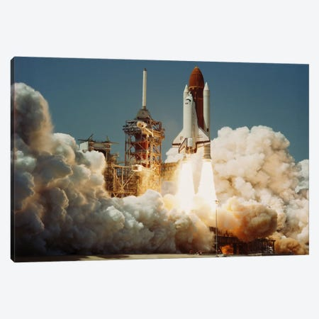 Space Shuttle Challenger Lift Off (1983) Canvas Print #11033} by NASA Canvas Artwork