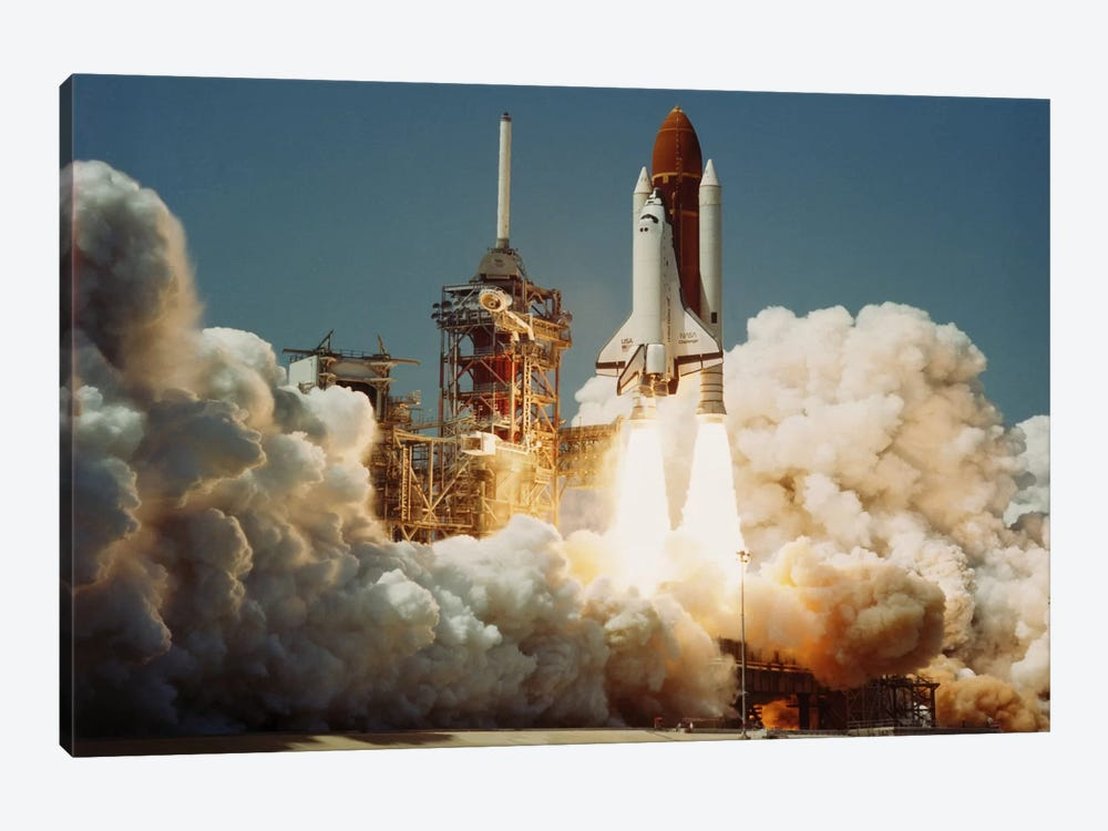 Space Shuttle Challenger Lift Off (1983) by NASA 1-piece Canvas Wall Art
