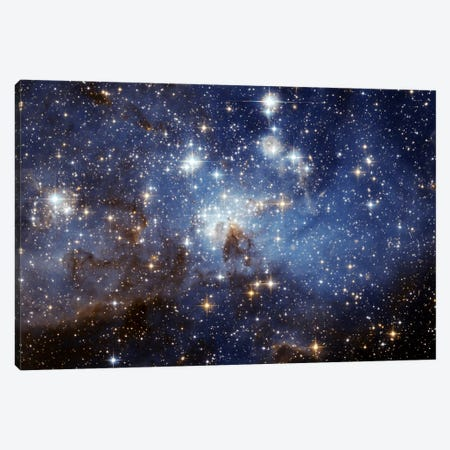 LH-95 Stellar Nursery (Hubble Space Telescope) Canvas Print #11036} by NASA Art Print
