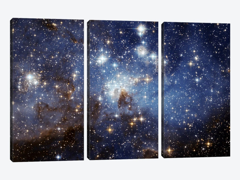 LH-95 Stellar Nursery (Hubble Space Telescope) by NASA 3-piece Canvas Art Print