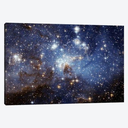 LH-95 Stellar Nursery (Hubble Space Telescope) Canvas Print #11036} by NASA Art Print