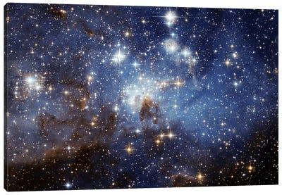 LH-95 Stellar Nursery (Hubble Space Telescope) Canvas Art Print