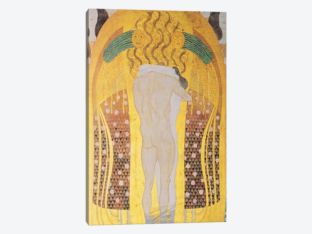 Diesen Kuss der ganzen Welt 1902 by Gustav Klimt 1-piece Canvas Artwork