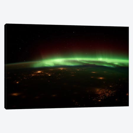 Aurora Borealis Canvas Print #11045} by Unknown Artist Canvas Artwork