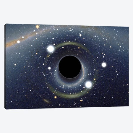 Black Hole MAXI Absorbing a Star (XMM-Newton Space Telescope) Canvas Print #11046} by Unknown Artist Canvas Artwork
