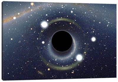 Black Hole MAXI Absorbing a Star (XMM-Newton Space Telescope) Canvas Art Print