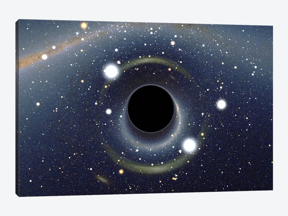 Black Hole MAXI Absorbing a Star (XMM-Newton Space Telescope) by Unknown Artist 1-piece Canvas Wall Art