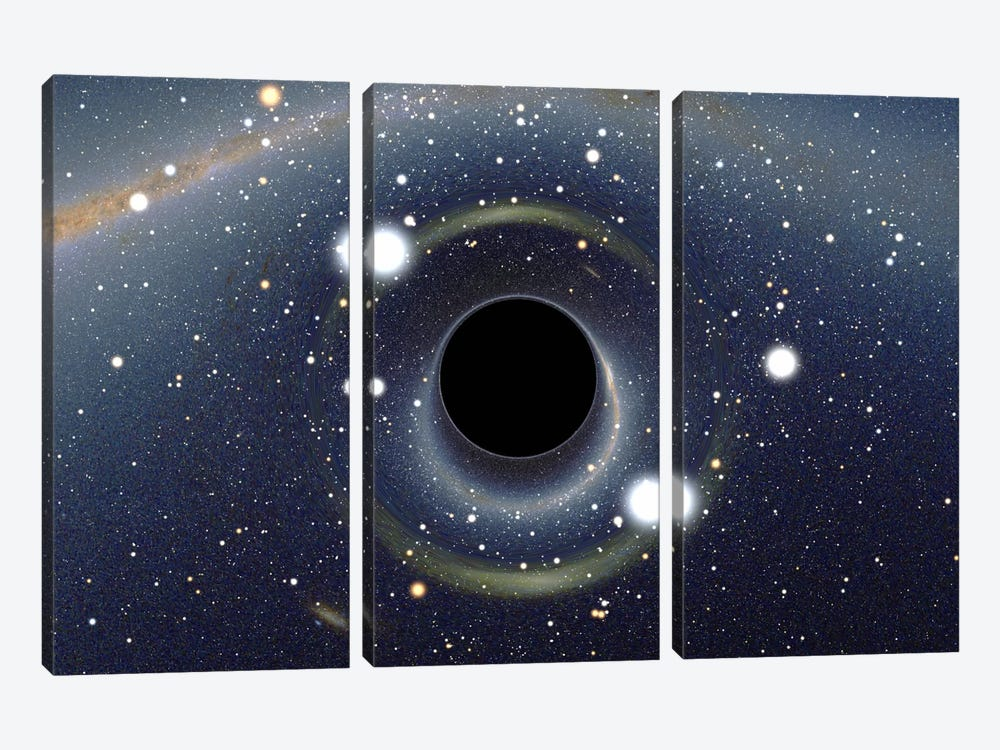 Black Hole MAXI Absorbing a Star (XMM-Newton Space Telescope) by Unknown Artist 3-piece Canvas Wall Art