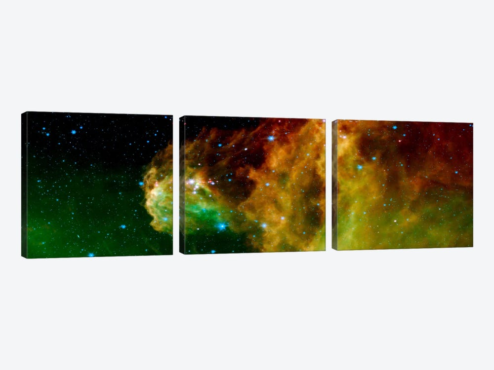 Stars Emerging From Orion's Head (Spitzer Space Observatory) by Unknown Artist 3-piece Canvas Artwork