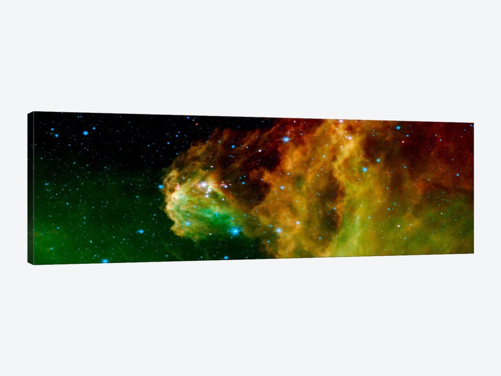 Stars Emerging From Orion's Head (Spitzer Space Observatory) by Unknown Artist 1-piece Canvas Artwork
